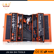 85pc hand tool set in plastic box,wrench,pliers,measuring tape,sleeve set,knife