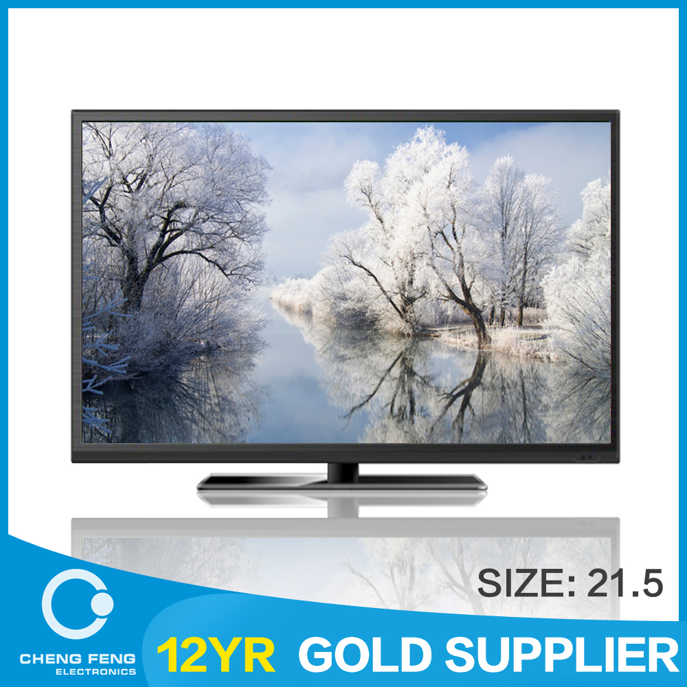 "china tv factory wholesale flat screen televisions, ""21.5""inch smart lcd tv"