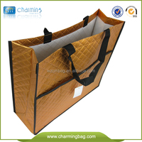 promotional and gift non woven metallic CROCO tote bag