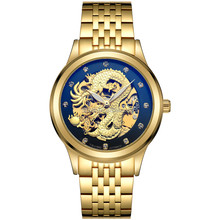 TEVISE Chinese Dragon Men gold Watches Automatic Watches Waterproof Male Clock Menso Watches Top Brand Luxury Wristwatches