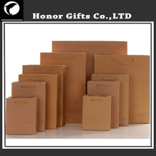 Recyclable Food Grade Customized Sizes Kraft Paper Shopping Bag