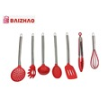 7 piece stainless steel silicone cooking Utensils Set Non-Stick Heat Resistant Kitchen Tools and Gadgets