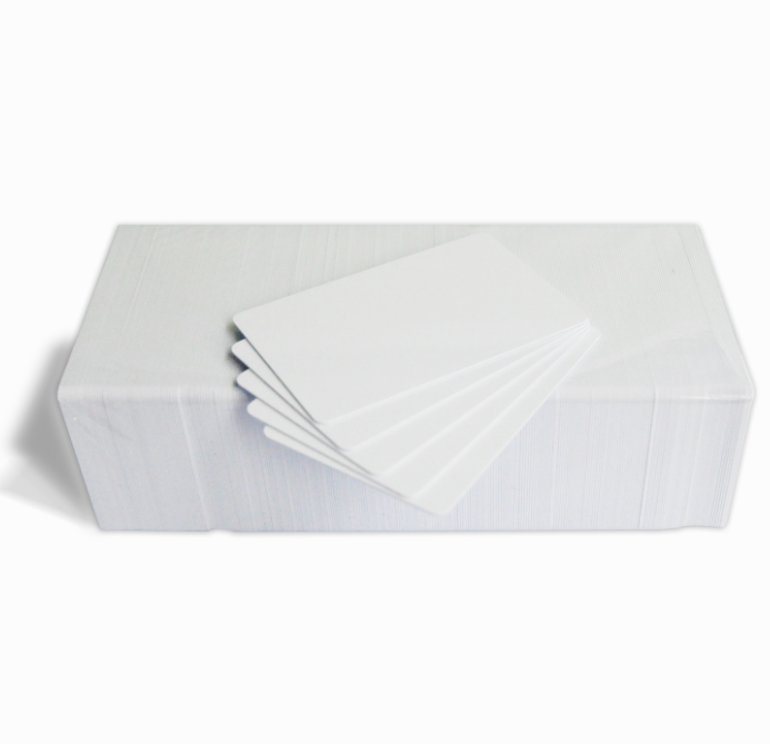 CR80 30Mil White Blank PVC Plastic Cards for Photo ID card printers (DataCard, Zebra, Fargo, Evolis, Magicard, NBS & etc)