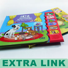 Children Early Learning Talking Book With Sound Button Of 8 Animal Sounds