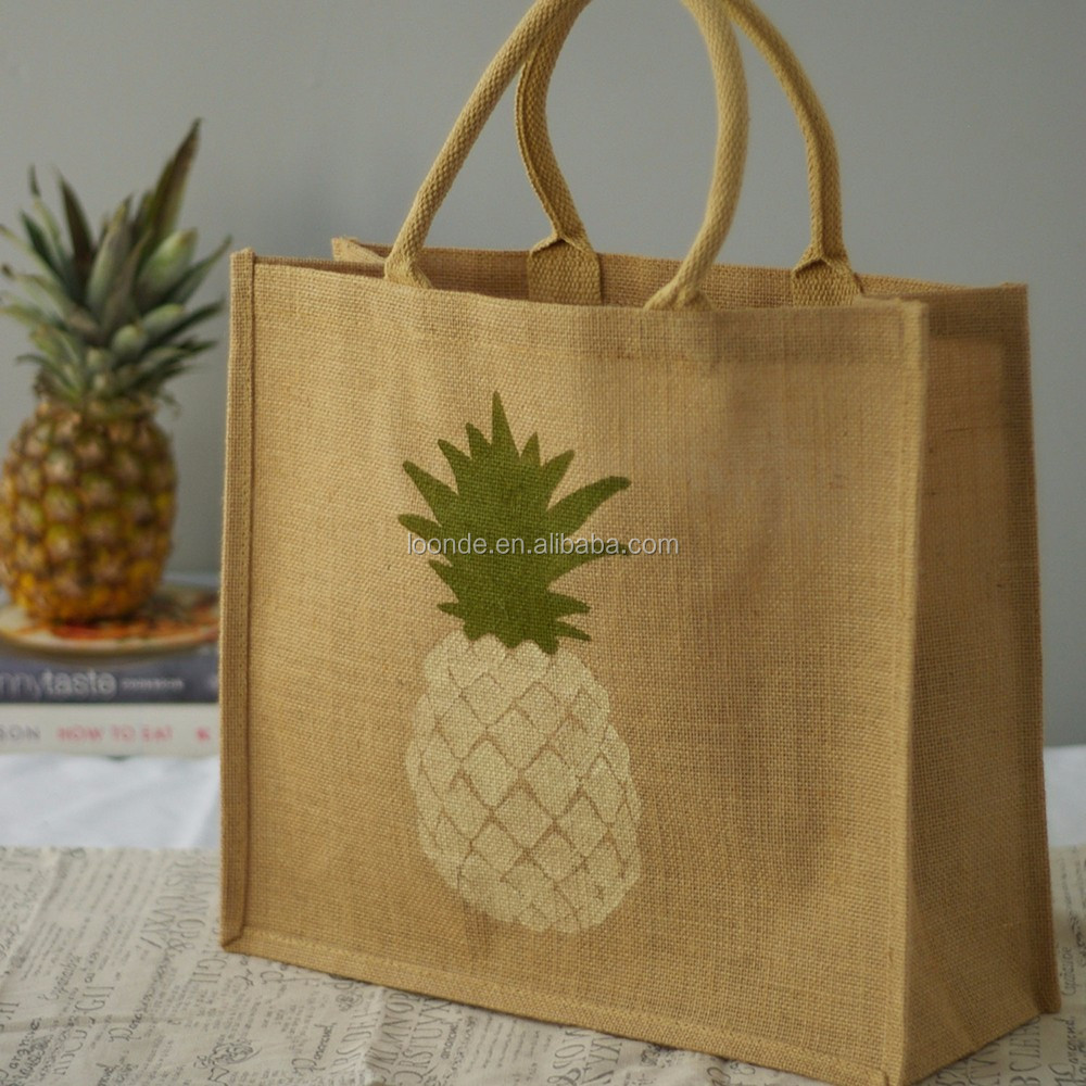 Disposable large jute hand bag for shopper