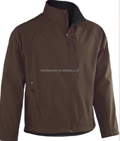 Men's outdoor softshell jacket good design zips