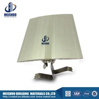 wall expansion joint cover with extruded aluminum plate