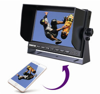7 inch Stand Alone LCD Mirror Link monitor with USB Charging and 1024*600 Resolution