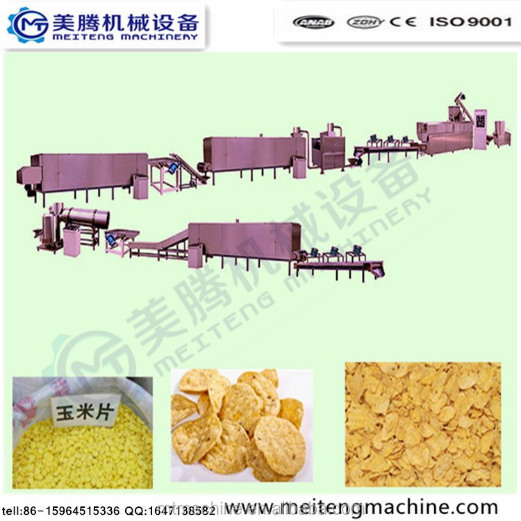 Corn chips /breakfast cereal processing line Skype:lisatanghong+0086-15964515336