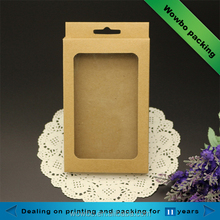 Plain suspensible display cellphone mobile phone case packing box with window
