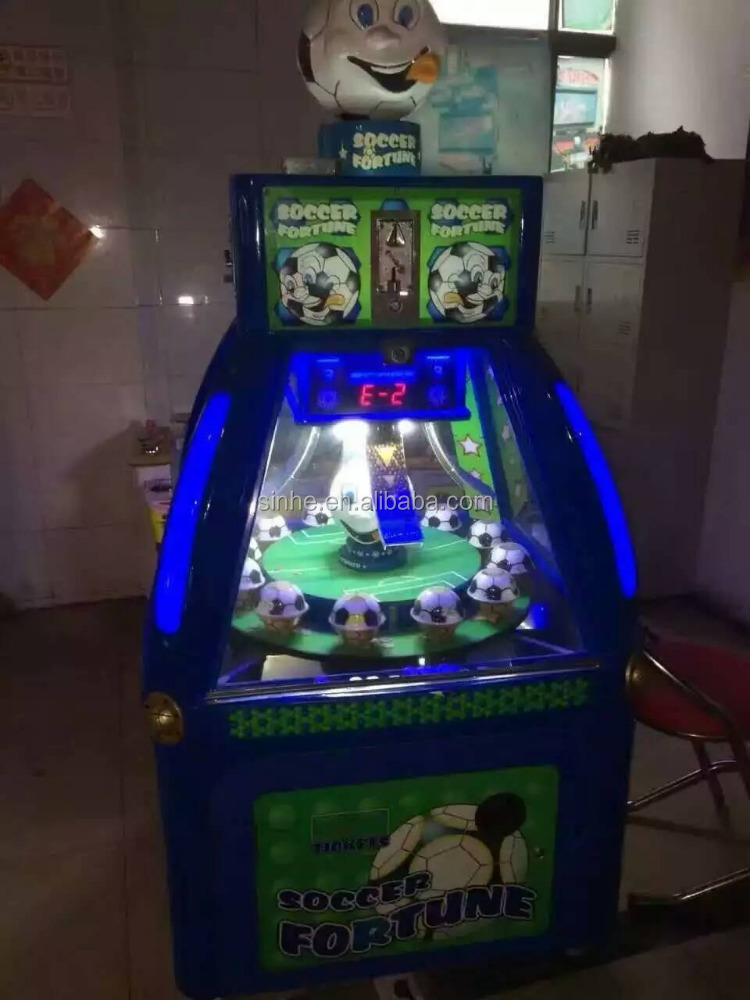 Indoor coin pusher grabbing game machine toy kiddle tickets machine vending price soccer fortune