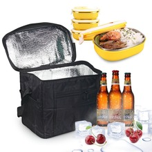Custom Wholesale Promotional Cheap 6 Can Pack Soft Foldable Aluminium Travel Food Delivery Lunch Insulated Cooler Bag
