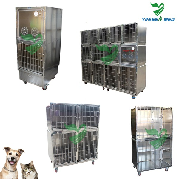 stainless steel customizable pet dog crates with wheels