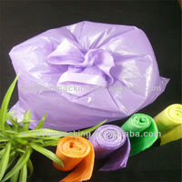 Garbage Bag Manufacturing!Biodegradable Purple Garbage Bags with Heavy Duty