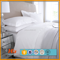Factory direct sale cheap 100% cotton white hotel use bedding set