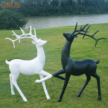 RUYA deer statue wild animal lifesize sculpture for outdoor decoration or interior mall holiday decor