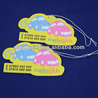 Road angels printed Car Air Freshener for promotional gift