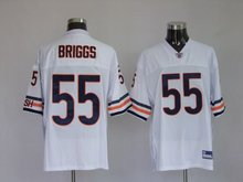 Chicago Bears #55 Lance Briggs-white jerseys football/rugby wholesale authentic quality freeshipping paypal