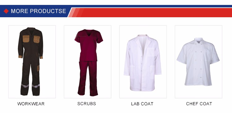 Color in white +high quality+nice workmanship of UNISEX lab coat used for hospital and lab in long sleeve