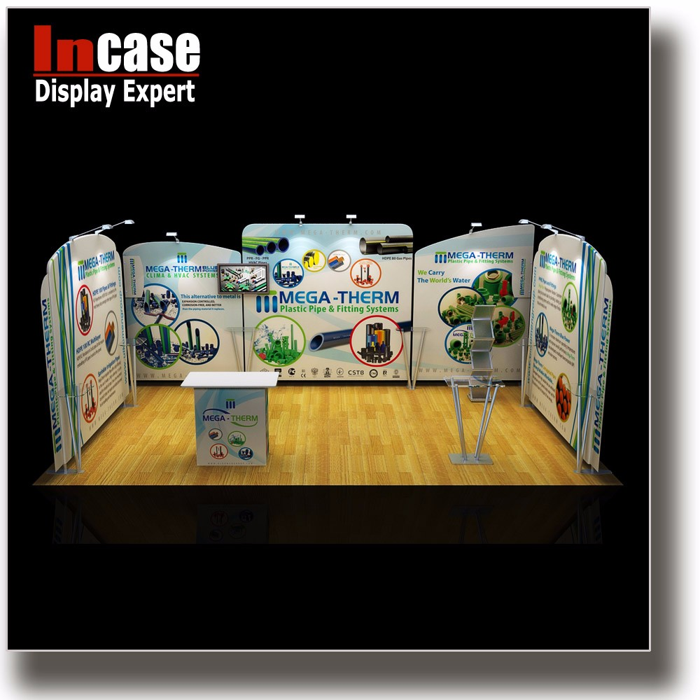 Incase Customized aluminum truss craft trade show display booth stand