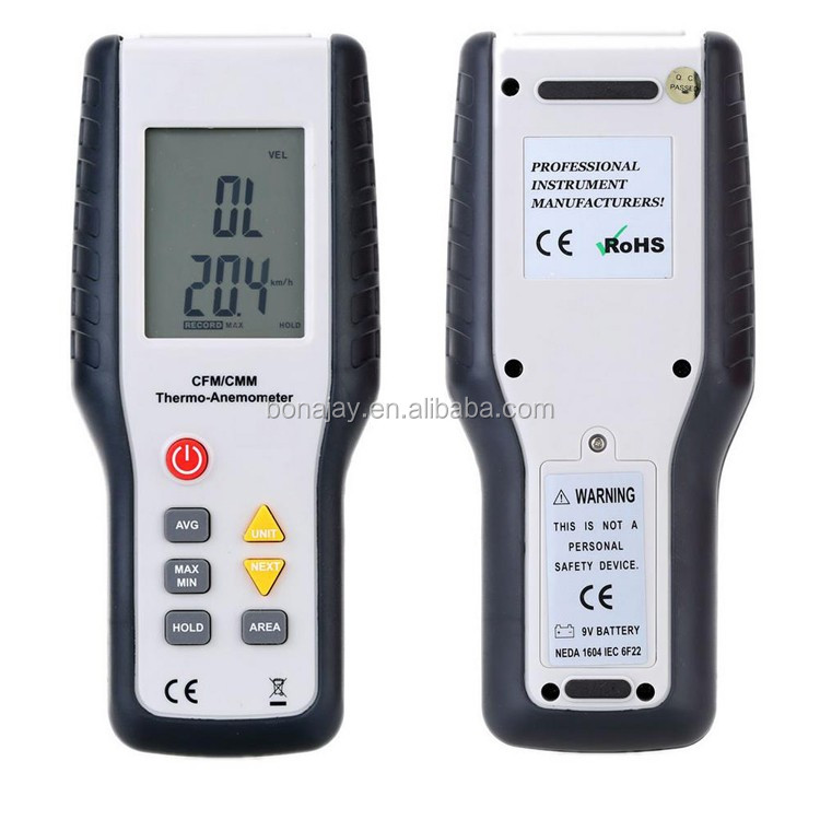 LCD Display anemometro thermal imager Thermo-Anemometer Infrared Thermometer termometro Wind Speed estacion meteorologica