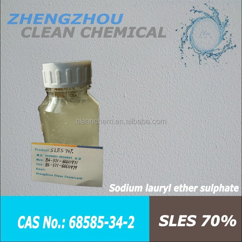SLES 70%, Alcohol ethoxylate sulfated sodium salt,Shampoo additives