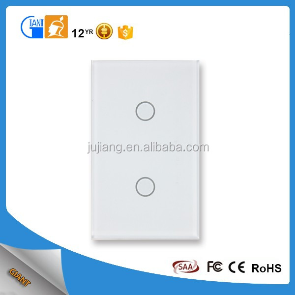 Vertical 2 gang One way electrical switch JJ-US-02