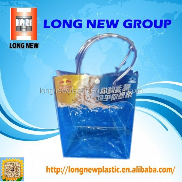 E Hot sale cheap Bottle shopping Quilt fashion clear pvc tote bag