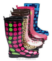 Different pattern printing women cheap rain boots