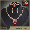 2015 latest design crystal dubai gold bridal jewelry set