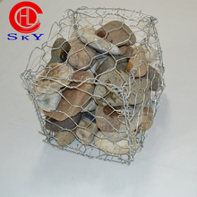 Galfan 5 aluminum Galvanized gabion mesh /60*80 2.2mm tie wire gabion cages/high quality gabion retaining wall