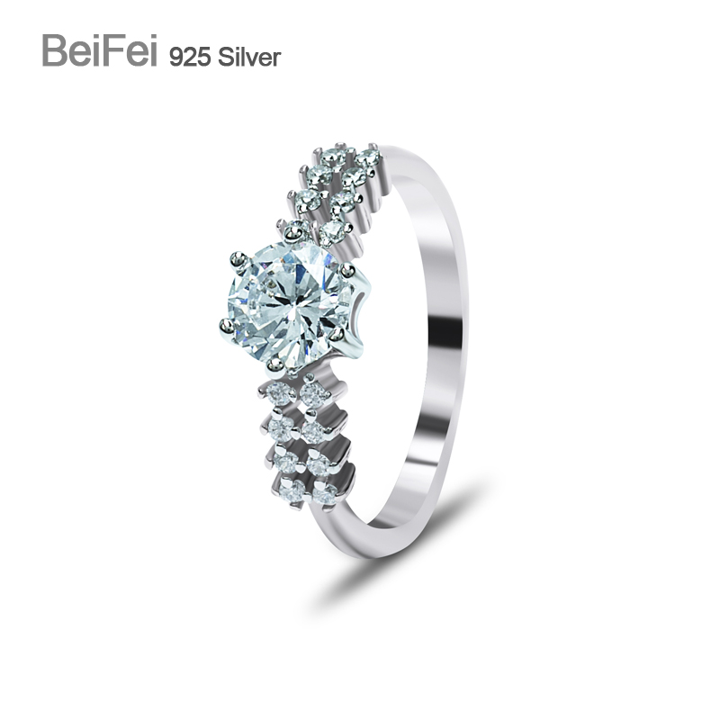 Hot sale joyas de plata 925 latest white gold ring designs