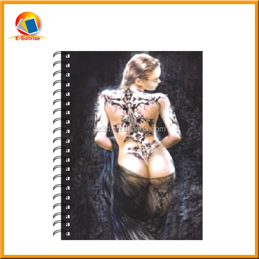 lenticular 3d notebook by Guangzhou factory wholesale notebook printing