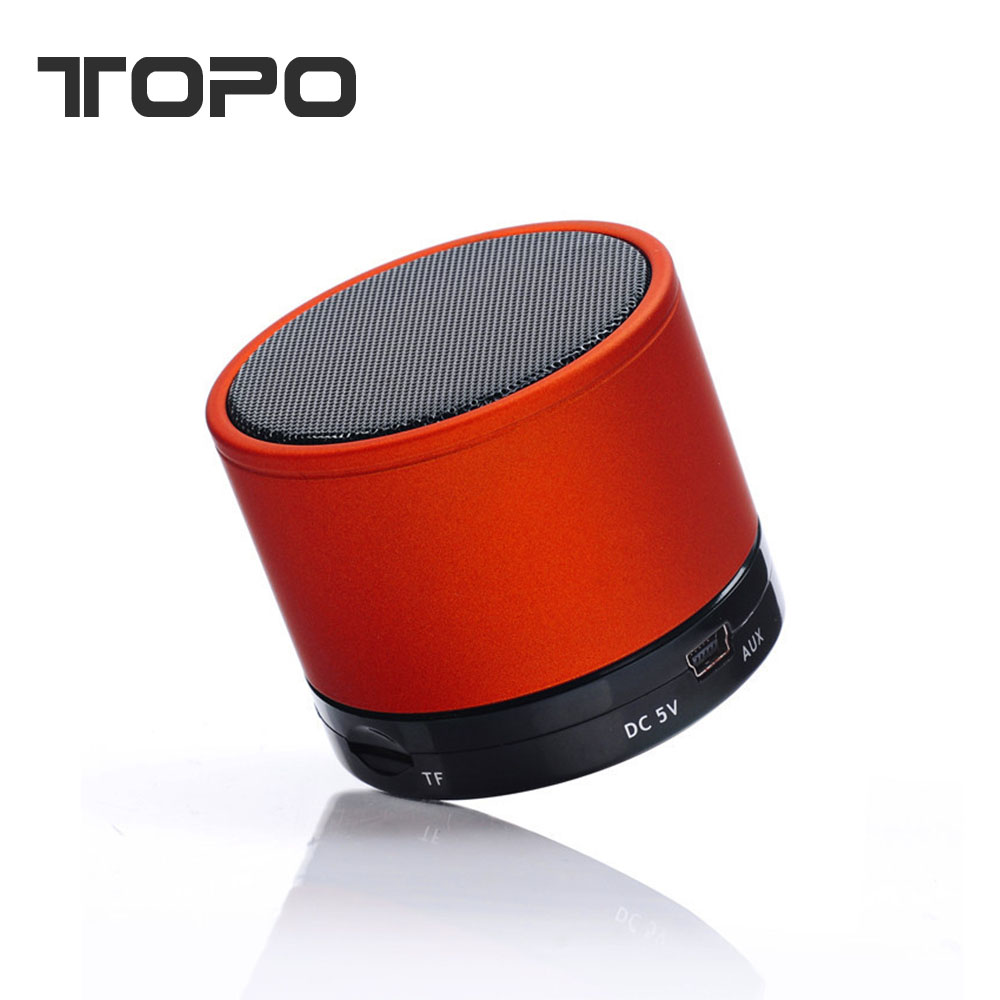 2017 New Christmas gift Rechargeable portable S10 bluetooth speaker Mini Metal Wireless speaker