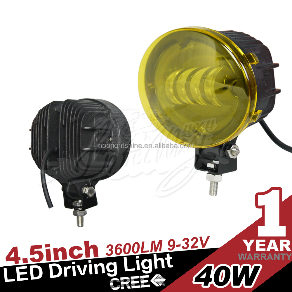 40W led driving light with yellow cover