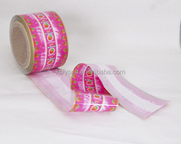 Printed pvc twist film laminated one layer for toffee wrapper