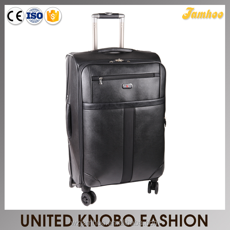 High quality 4 wheels pu trolley case set pu luggage