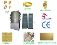Decorative watch pvd ion plating machine/physical vapor deposition process golden plating equipment