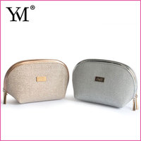 2016 Fashion custom wholesale waffle weave PU modella cosmetic bag