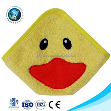 Cartoon animal small wash cloth for kids Custom OEM cute cheap baby 100% bamboo cotton face towel