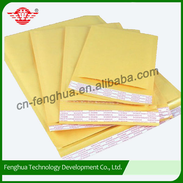 Professional made custom design mailing bag small kraft bubble envelope