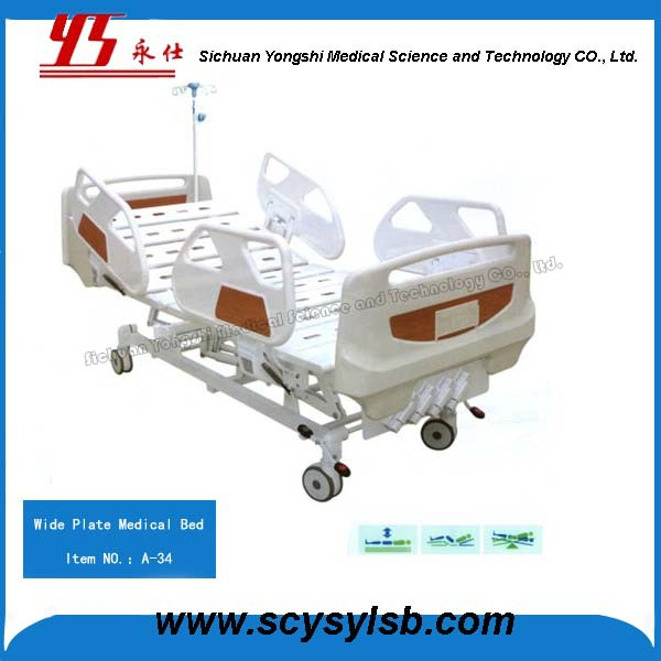 China bed making factory Multi-functional Steel Manual folding ICU Hospital Bed for sale