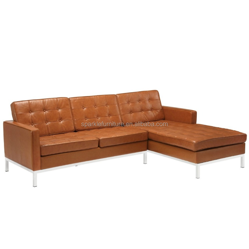 American modern florence knoll grande corner sofa 3 seater for 3 seater chaise lounge