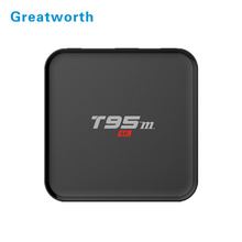 2018 T95M china manufacturer media box iptv Android 6.0 Box With S905X Quad Core 64Bit 1GB 8GB 2.4GHz WiFi android tv box t95m