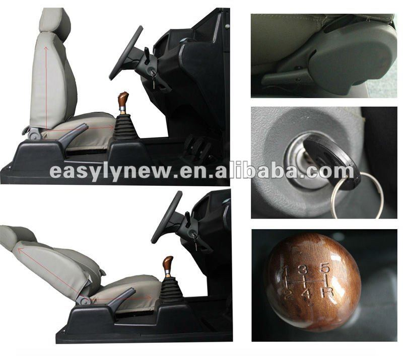 Car driving training simulator with Arabic language