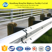 galvanized road safety barrier