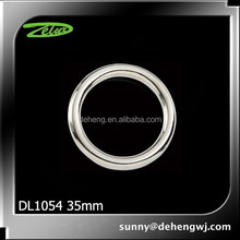High quality nickle alloy o ring buckle 35mm