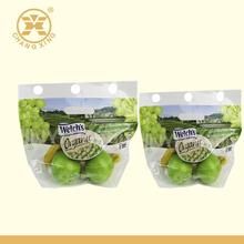 Fruit Vegetable Packaging Materials Keep Freash Plastic Bag Hole Handler Optional