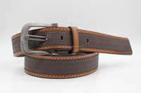 2015 Latest Styleing Two Color Combo Pu Causal Belt