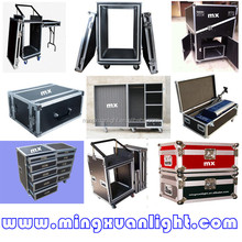 Custom flight case aluminum trolley with wheels